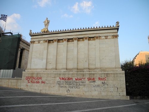 Anti fascist graffiti Athens
